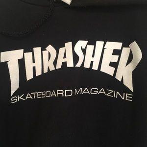 98478e230e0d Thrasher Tops - Authentic Black Thrasher Hoodie Women s Sz Small